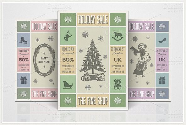 3 Retro Christmas Flyers - Part 5