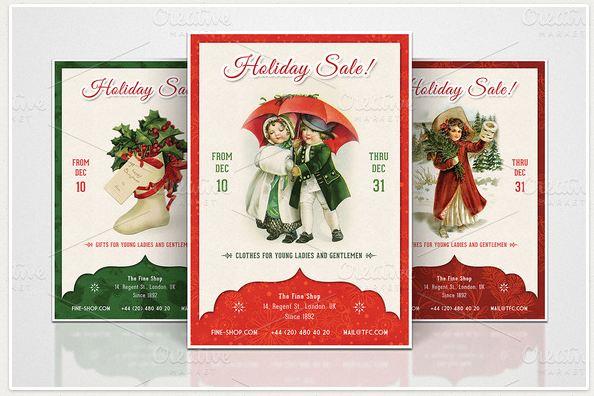 3 Retro Christmas Flyers - Part 1
