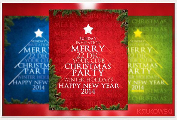 Typography Christmas Flyer