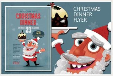 Christmas Dinner Flyer Template