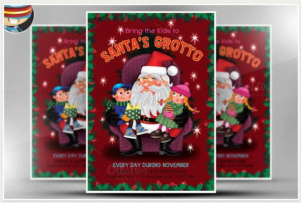 Santa's Grotto Flyer Template