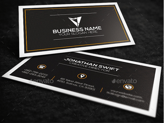Brown Corporate Business Card Design template