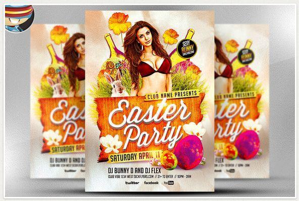 Easter Party Flyer Design