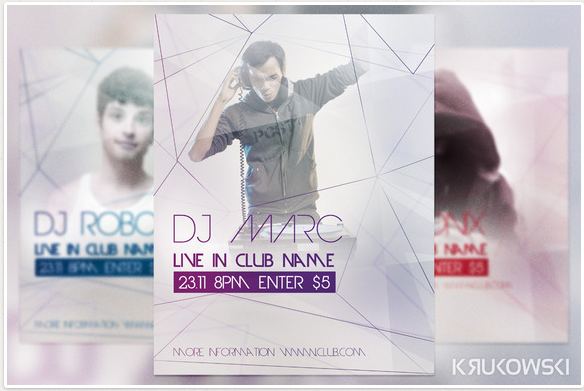 DJ Live in Club Flyer Design