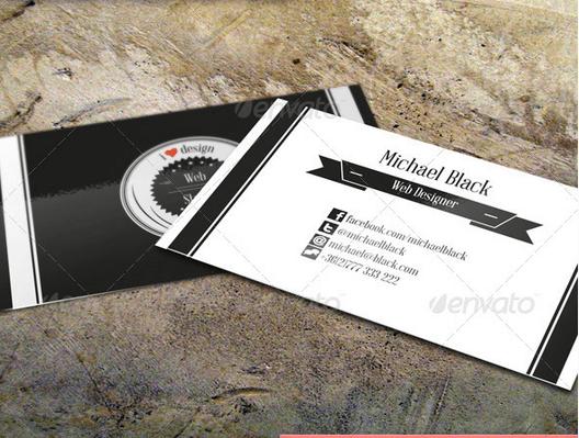 Creative Retro Business Card Design Template