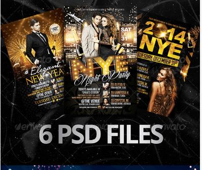 Elegant New Year Bundle | Flyers + FB Covers