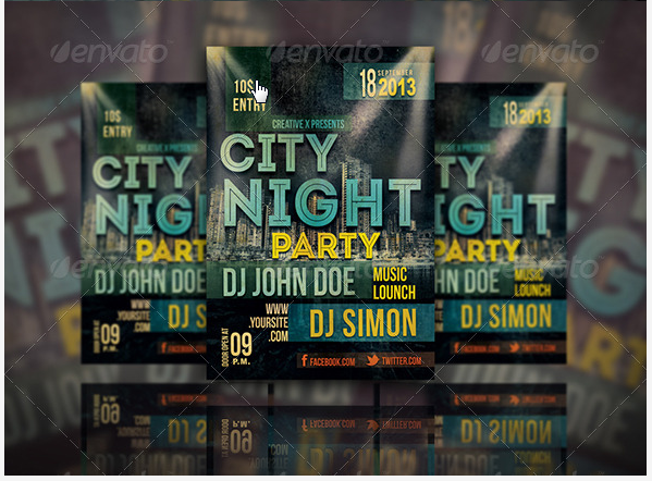 City Night Party flyer Design