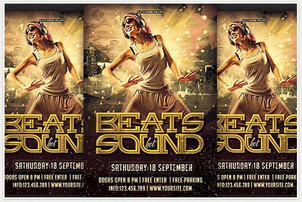 Beats Sound Party Flyer Design