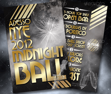Midnight Ball New Year's Eve Flyer