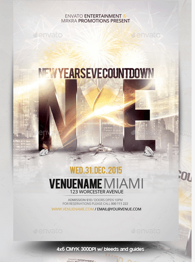 NYE New Year's Eve 2015 Flyer Template