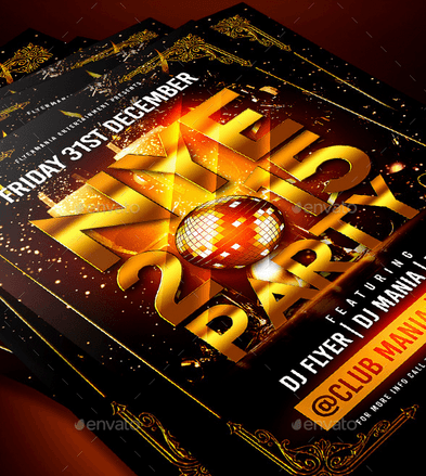 New Year Eve Party Flyer Template