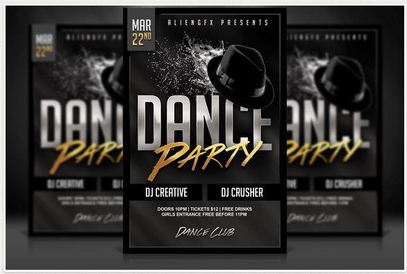 Dance Party Flyer Design