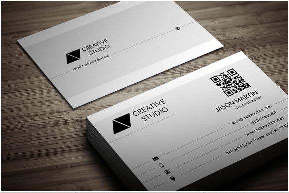 Clean and Flat Business Card Design